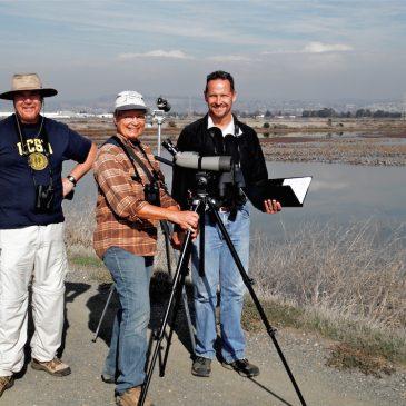 Citizen Science volunteers conducting annual shorebird surveys in the Pacific Northwest.