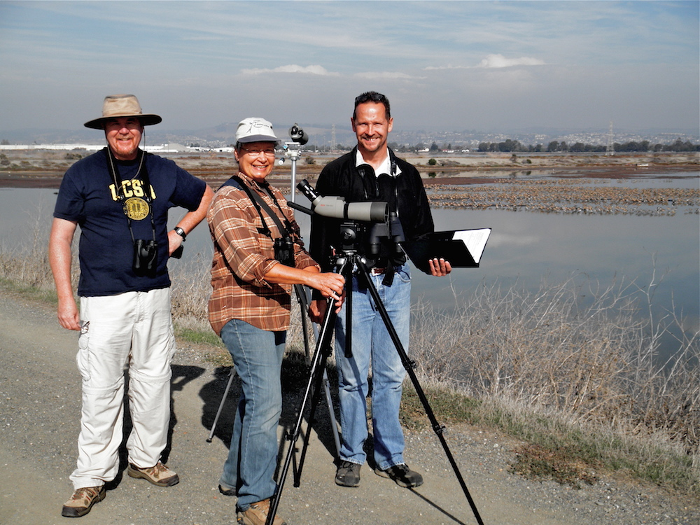 Citizen Science volunteers conducting annual shorebird surveys in the Pacific Northwest.