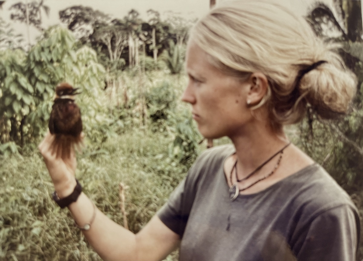 Helen doing field work in Peru, 1998.