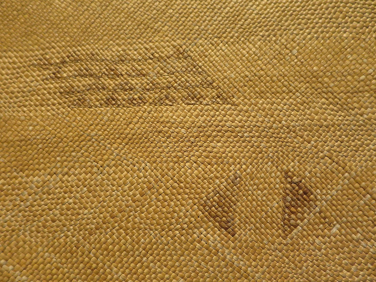 A 19th century Makaloa mat.
