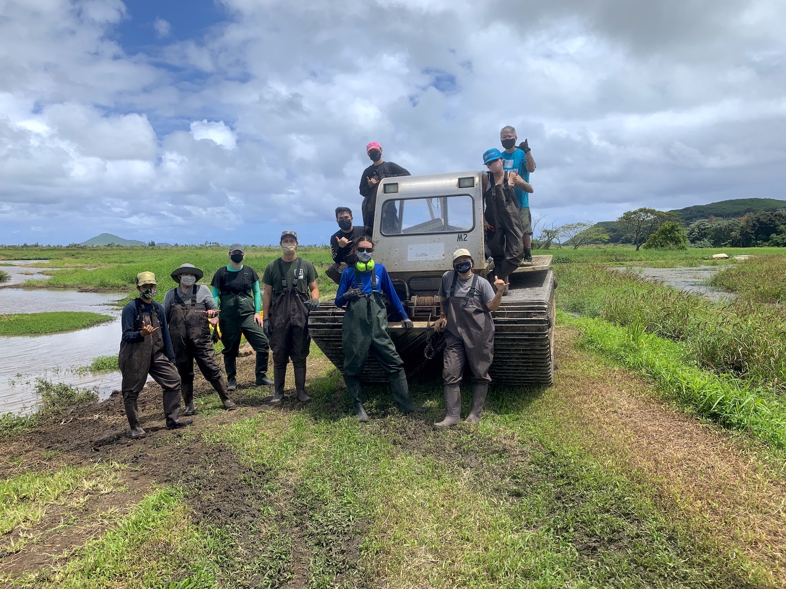 Volunteers make all the difference when it comes to removing invasive plants. <br>Photo courtesy of Hawaiʻi Department of Land and Natural Resources