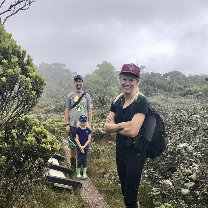 Hiking in Kauaʻi with family, 2016
