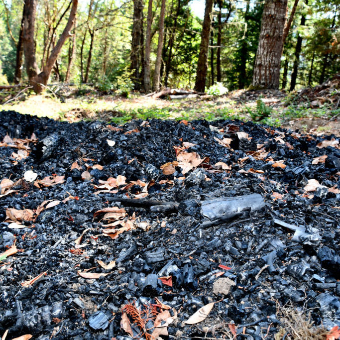 Biochar pile in southern Oregon<br>Tracy Robillar, Natural Resources Conservation Service